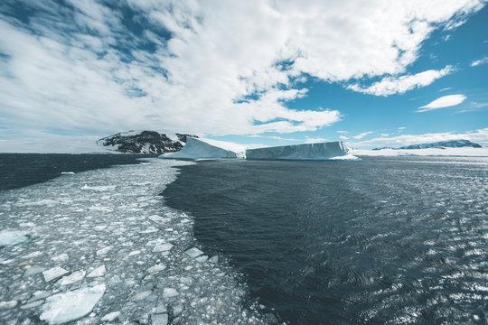 Ice Floes and Icebergs - Antarctica