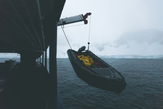 Boat on the Hook - Antarctica