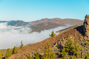 Fotobehang Zuid Afrika Teide National Park, Tenerife, Canary Islands. Beautiful sunny weather in the mountains. mountain view above the clouds