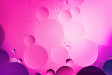 mixing water and oil, beautiful color abstract background based on circles and ovals