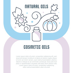 Website Banner and Landing Page of Natural Oils.