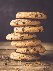 Poster Koekjes american chocolate chip cookies