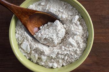 A bowl of oat flour