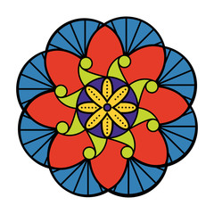 Decorative colored mandala