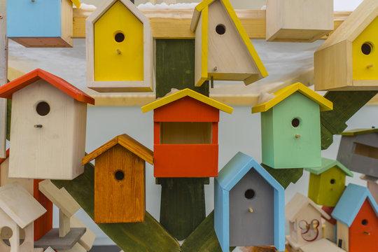Wooden Bird Home Nest