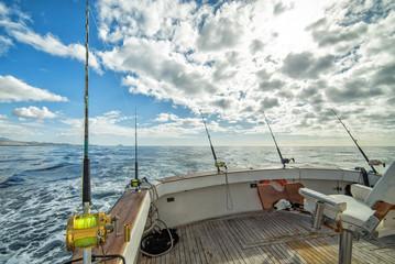 Tuinposter Vissen Big game fishing time in tropics