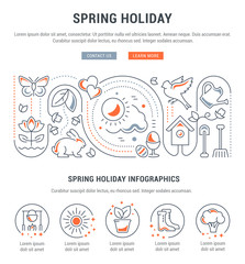 Website Banner and Landing Page of Spring Holiday.