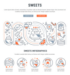 Website Banner and Landing Page of Sweets.
