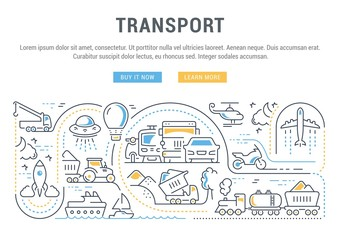 Website Banner and Landing Page of Transport.