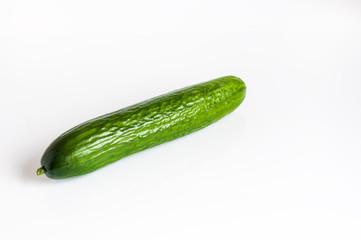 Zielony długo ogórek