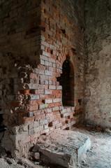 Palácio em ruínas e abandonado