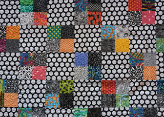 Polka Dot Quilt with Colorful Accents