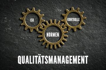 Qualitätsmangement bestehend aus Komponenten Iso, Normen und Kontrolle