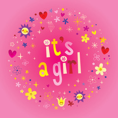 its a girl card