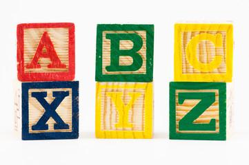 ABC XYZ alphabet blocks