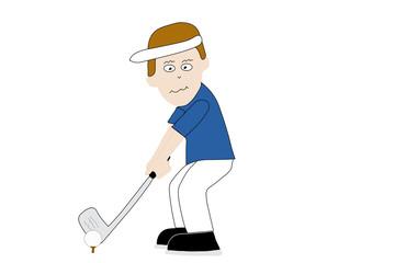 Illustrated cartoon Golfer