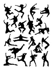 Dancer silhouette. Good use for symbol, logo, web icon, mascot, sign, or any design you want.
