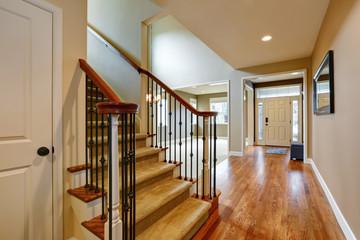 Light taupe interior with amazing floorplan.