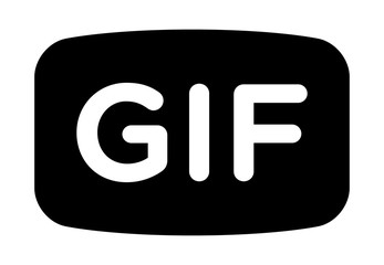 Animated GIF image or graphics interchange format flat vector icon for apps and websites