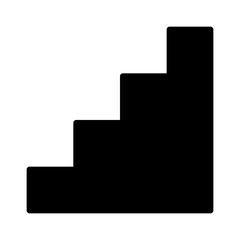 Staircase, stairs or stairwell sign flat vector icon for print
