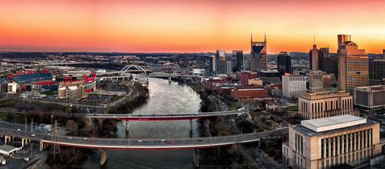 Fototapete - Nashville during sunset