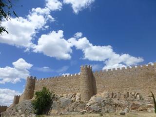 Muralla de Ávila, Patrimonio de la Humanidad. Ciudad de Avila en la comunidad autónoma de Castilla y León (España)