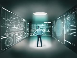 Digital screens room
