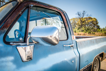 Old Rusty Blue Pick Up Truck