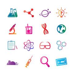 science vector gradient icons