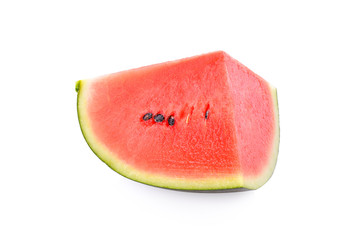 Fresh red watermelon isolated on white background.