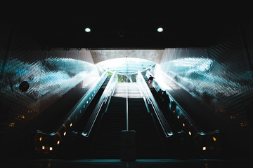 subway entrance from underground