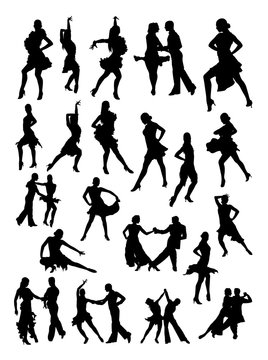 Salsa dancer silhouette. Good use for symbol, logo, web icon, mascot, sign, or any design you want.