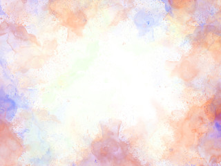 Abstract beautiful Colorful watercolor  painting  background, Colorful brush background.