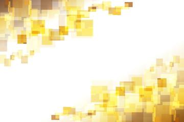 金色の四角形 アブストラクト