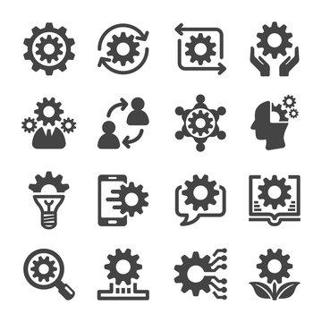 knowledge icon set