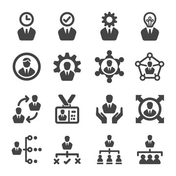 manager icon set