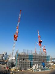 Fototapete - 高層ビルの建設現場