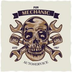 T-shirt label design