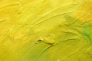 abstract hand painted canvas yellow background with expressive brush strokes