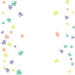Confetti Background Pattern. Puzzle pieces and big ideas design, vector illustration graphic
