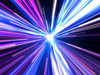Speed lights energy outer space background