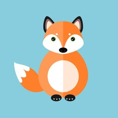 Cute fox vector illustration