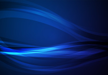 Blue abstract line vector background