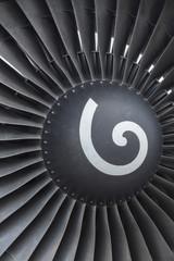 jet engine blades close up
