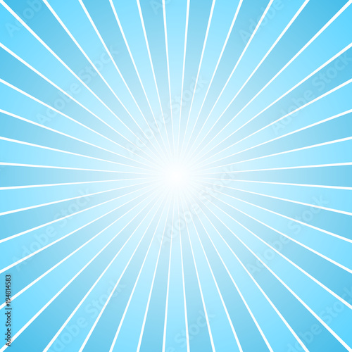 442d7c4db7 Blue retro ray burst background - gradient vector graphic design with  radial stripes