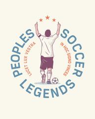 People's soccer legends illustration