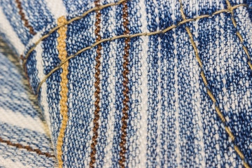 old striped denim fabric