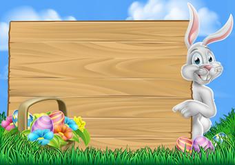 Easter Egg Hunt Bunny Rabbit Background