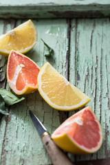 Oranges Sanguines, Oranges en tranches