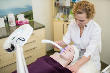 Cosmetology, face laser procedures.